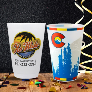 Custom Frosted Plastic Cups