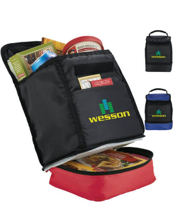 Daily Dual Compartment Cooler Lunch Bags