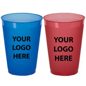 12oz Frosted Colored Plastic Cups