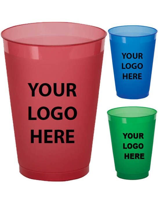 12oz Plastic Frosted Cups Colored