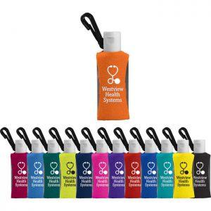 1 oz Custom Label Sanitizer w/ Sleeve