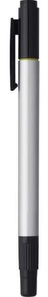 Dual Tip Pen Highlighters - Silver W Black Trim