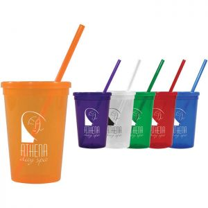 16oz Jewel Tumbler W/ Lid & Straw