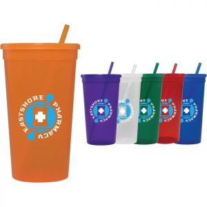32 oz Jewel Tumbler w/ Lid & Straw