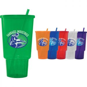 32 oz Jewel CarCup w/ Lid & Straw