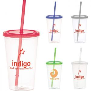 Glacier 20 oz Tumbler with Straw