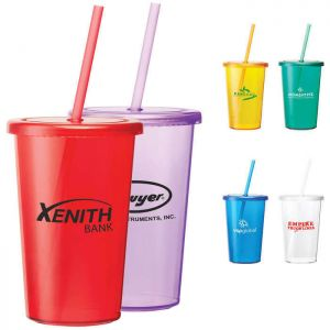 Sizzle 16 oz Tumbler with Straw