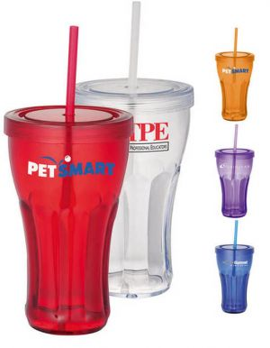 Fountain Soda 16 oz Tumbler with Straw