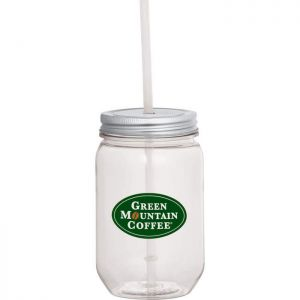 Mason Jar 22 oz with Silver Tin Lid