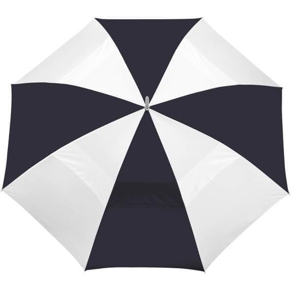 "60"" Vented  Golf Umbrellas - Navy & White"