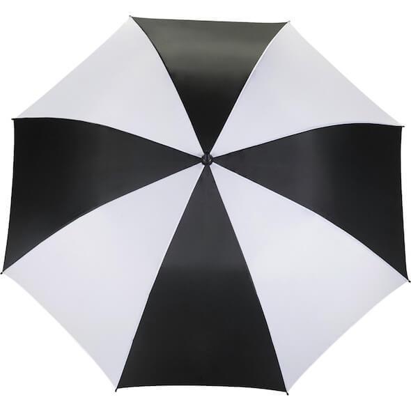 """58"""" Ultra Value Auto Open Golf Umbrella  - Black & White"""