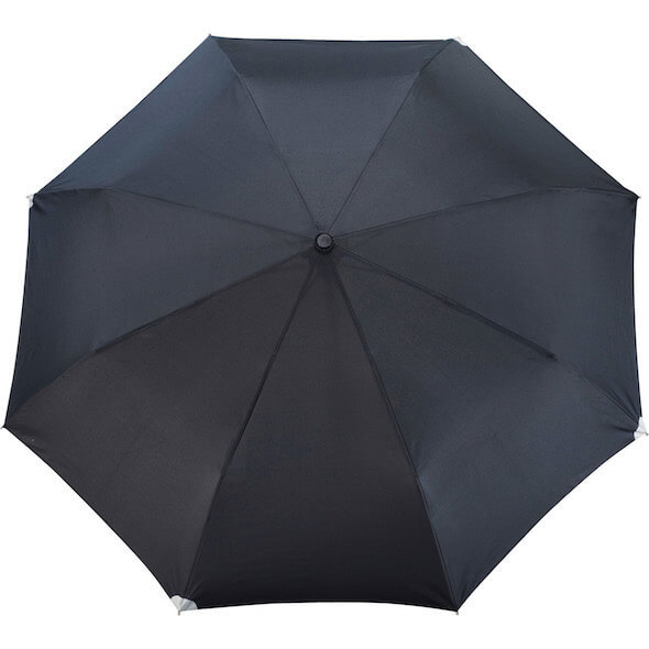 "42"" Auto Open Close Windproof Safety Umbrellas - Black"