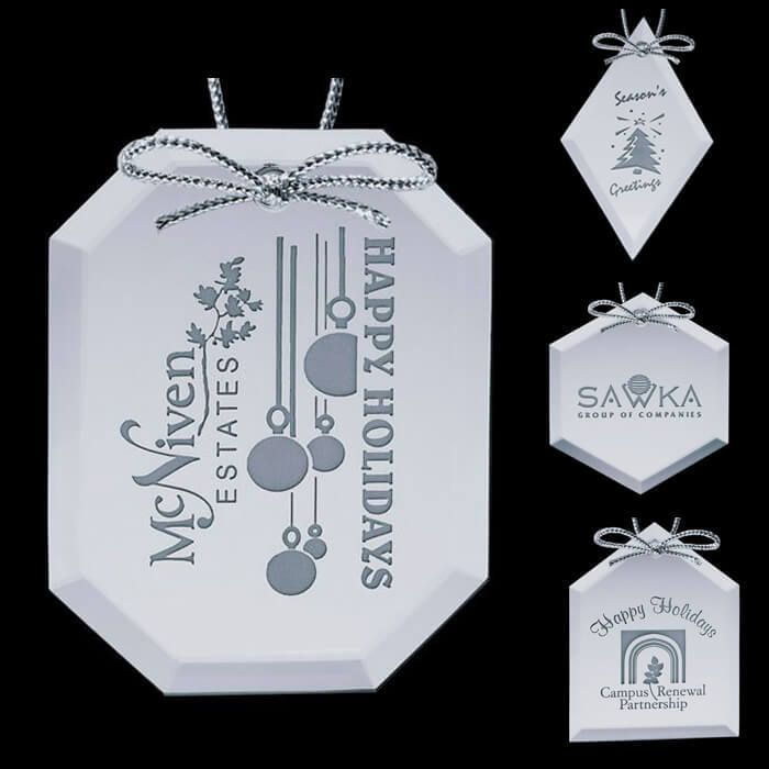 Custom Logo Mirror Ornaments