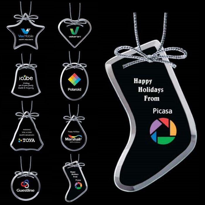 Custom Crystal Bevelled Ornaments