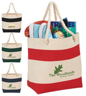 16 oz. Cotton Rope Handle Tote Bags