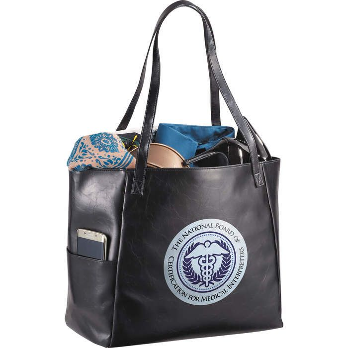 Classic Vinyl Business Tote Bags