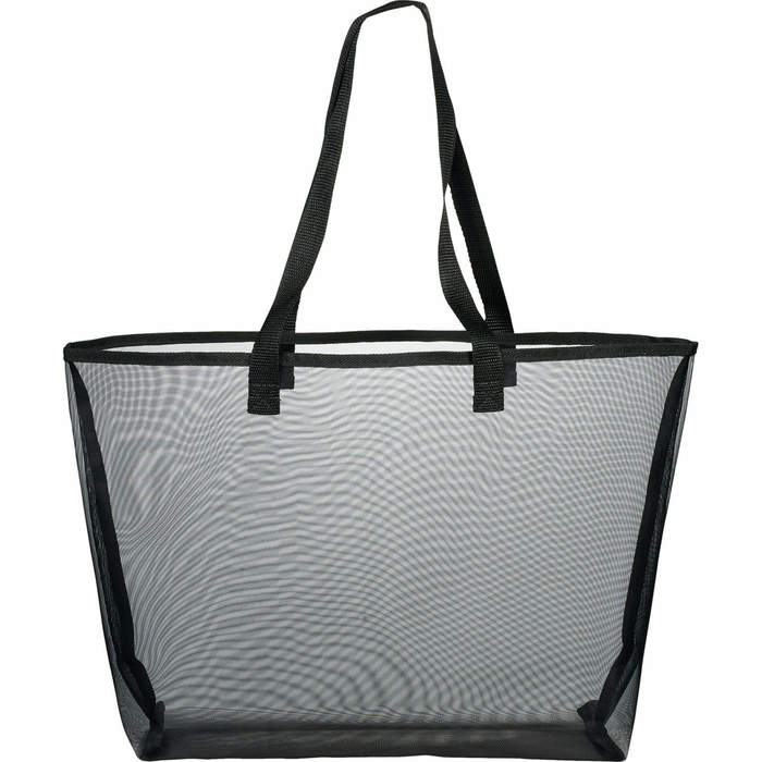 Mesh Shopper Tote Bags - Black