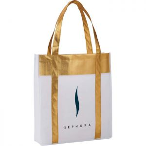 Metallic Shopper Tote Bags