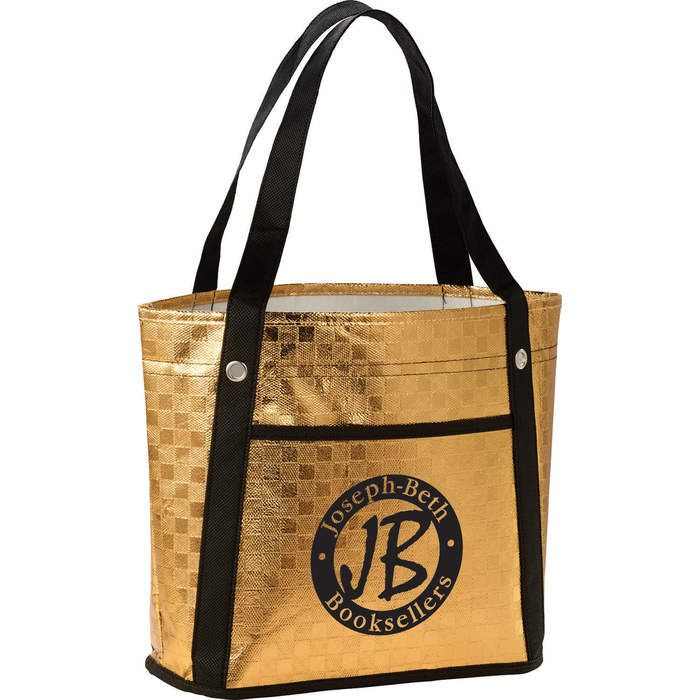 Metallic Mini Gift Tote Bags - Gold