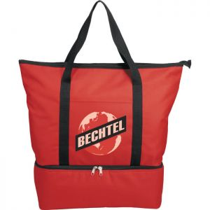 Drop Bottom Tote Cooler Bags