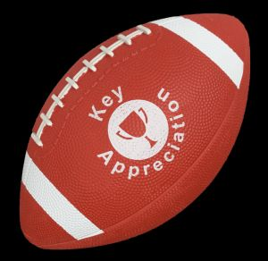 Rubber Footballs 10.5""