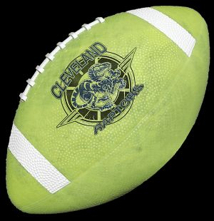 "Rubber Footballs 10.5"" Glow-in-Dark"