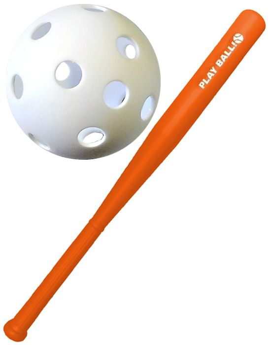Plastic Baseball Bat & Ball Set