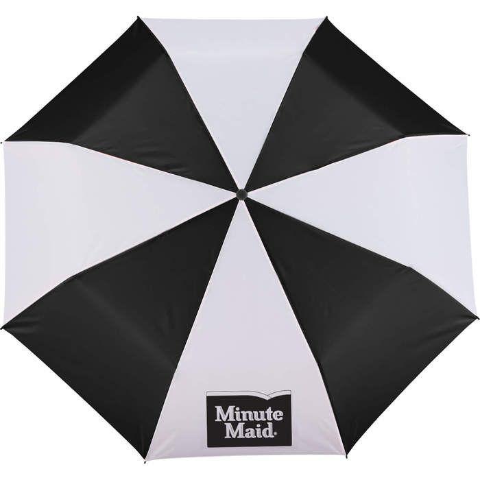 "42"" Folding Umbrella - Black & White"