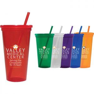 24-oz. Jewel Tumbler w/ Lid & Straw