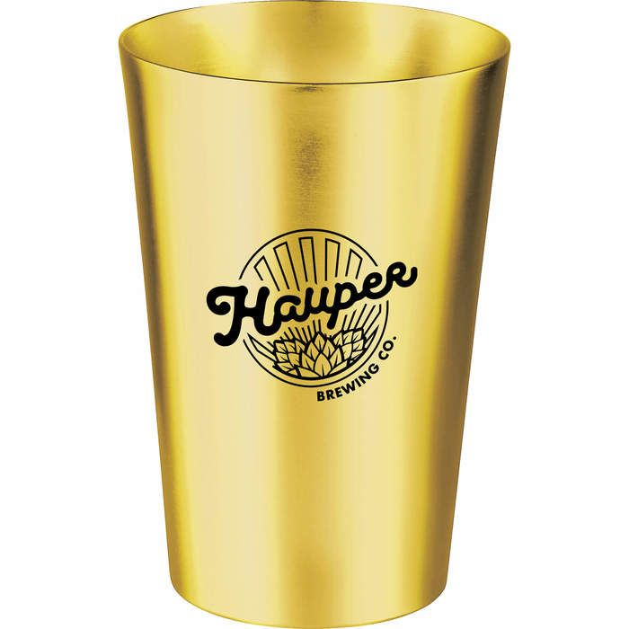 14-oz. Pint Glass - Gold