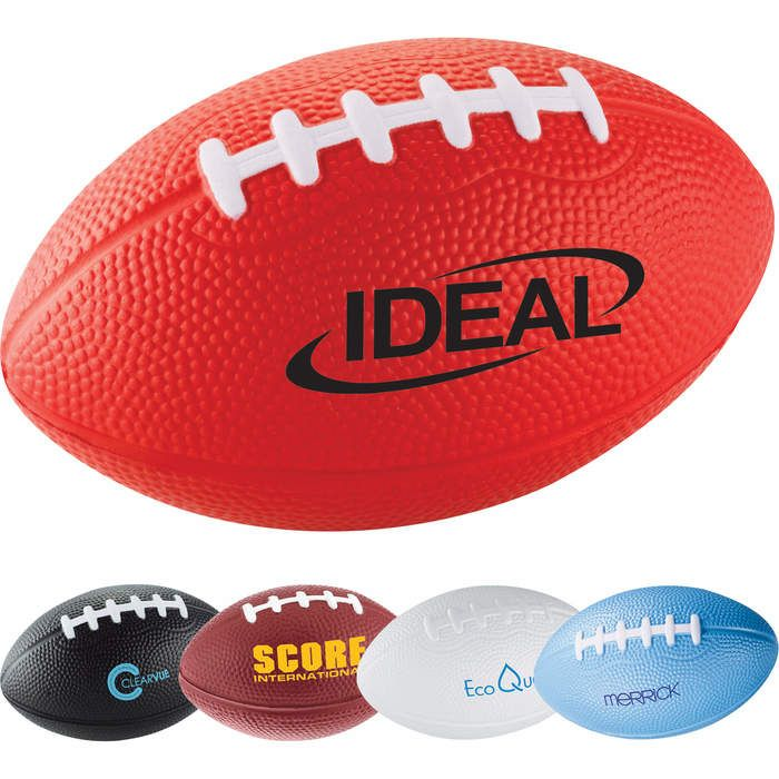 Custom Football Stress Reliever - 3.5 inches