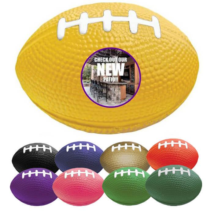 Custom Football Stress Ball - 3.5 inches