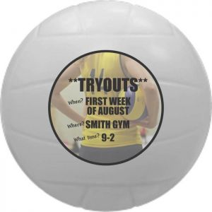 Promotional Volleyball Stress Ball - Imprinted