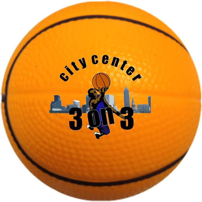 Custom Basketball Stress Ball - 2.5 inches