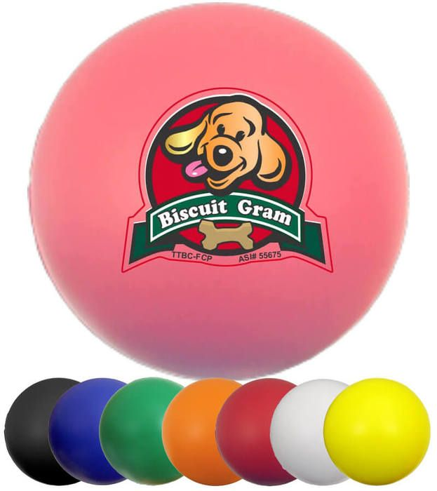 Promotional Round Ball Stress Ball - 2.5 inches