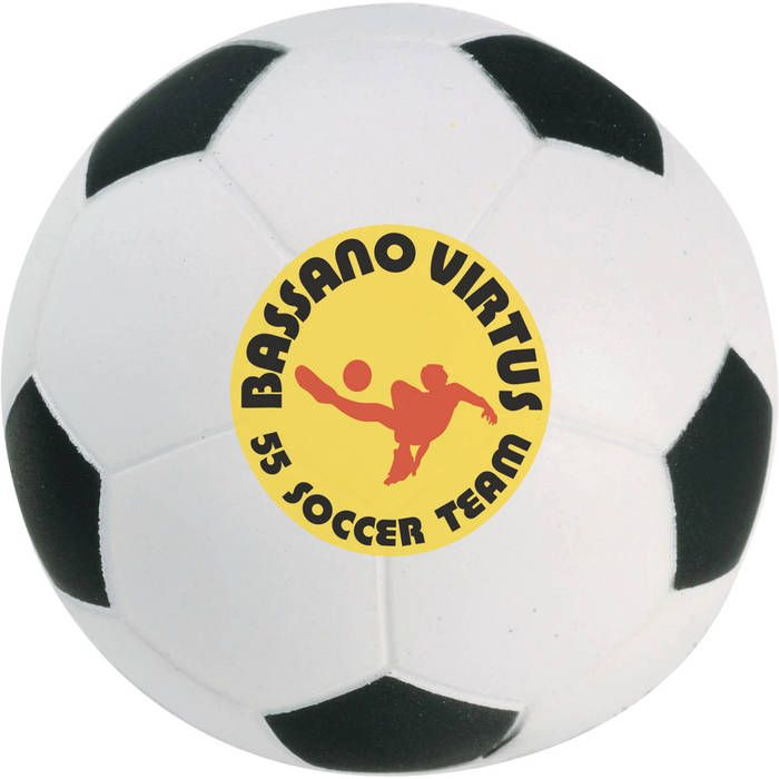 Custom Soccer Ball Stress Reliever - Montage