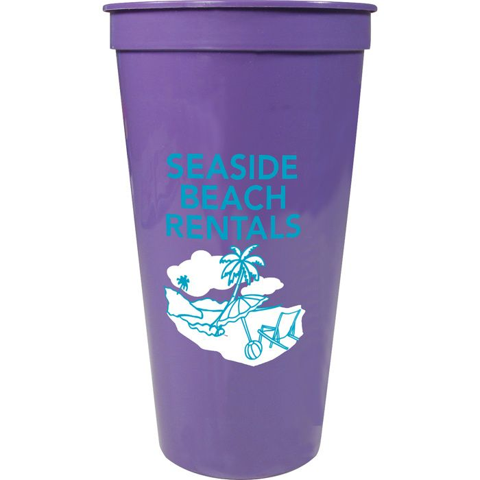 24oz Stadium Cup - Purple