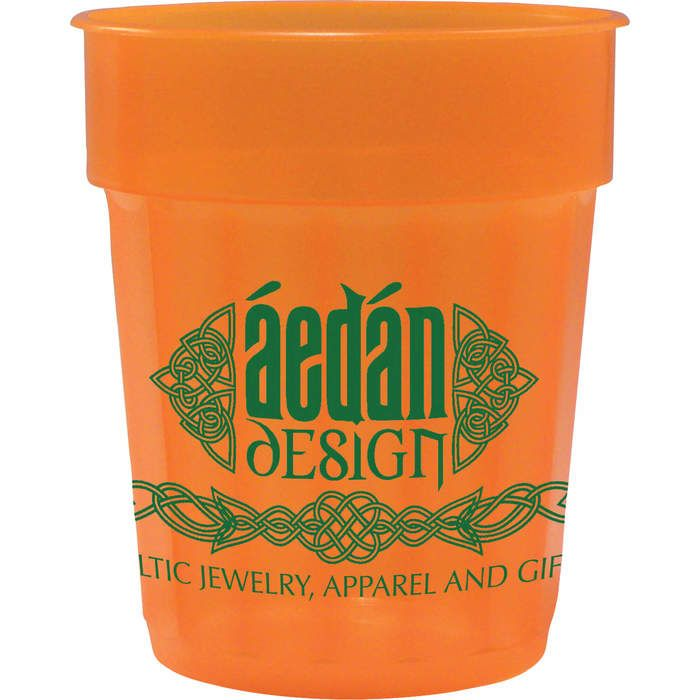 16oz Fluted Jewel Stadium Cup - Tangerine (T. Orange)