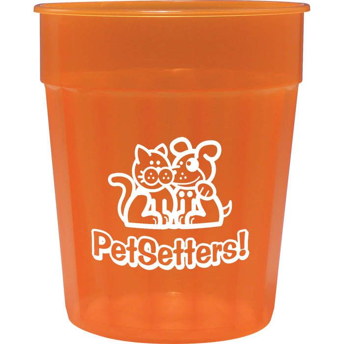 24oz Fluted Jewel Stadium Cup - Tangerine (T. Orange)