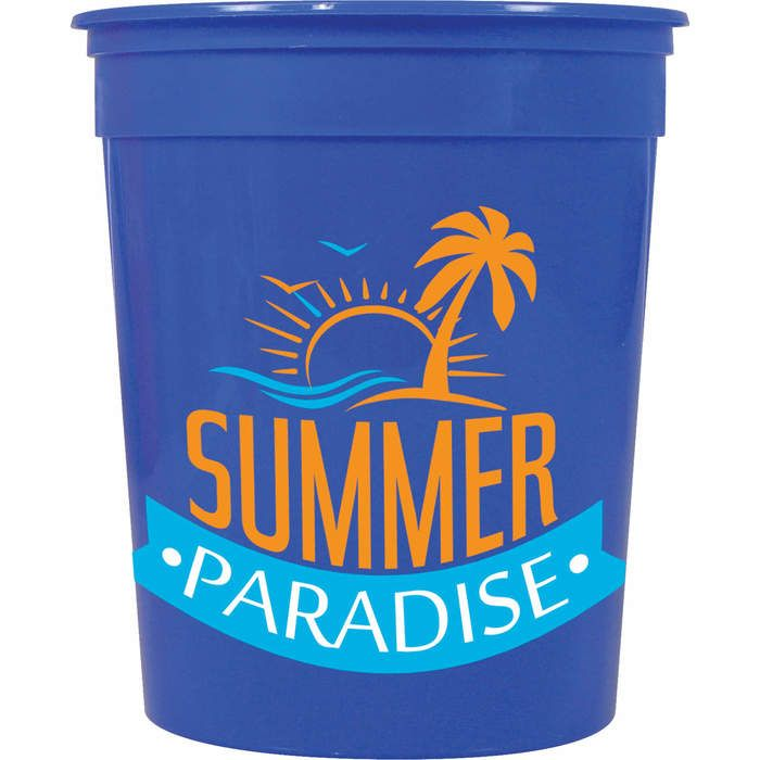 32oz Casino Stadium Cup - Blue