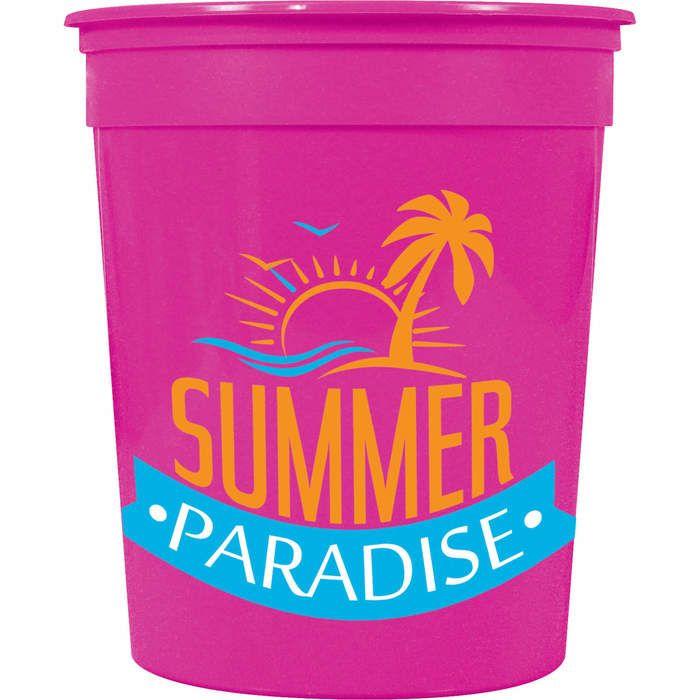 32oz Casino Stadium Cup - Neon Pink