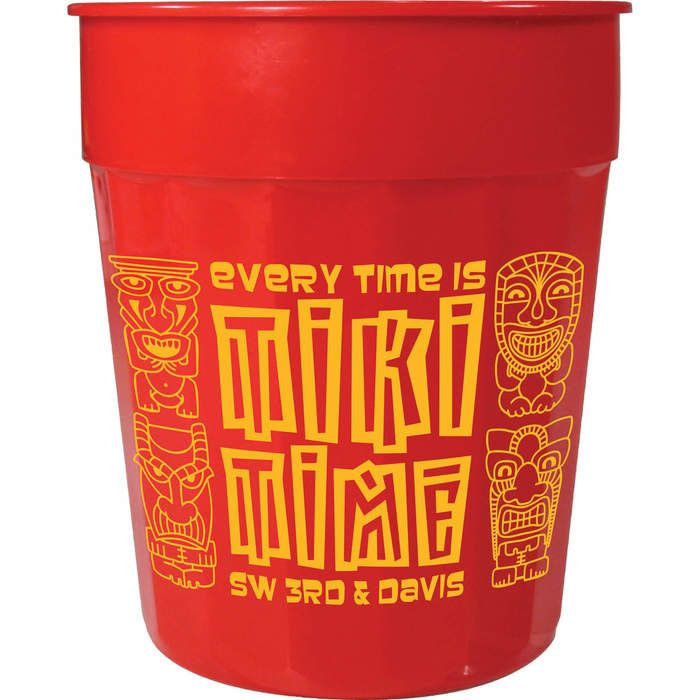 24oz Fluted Stadium Cup - Red