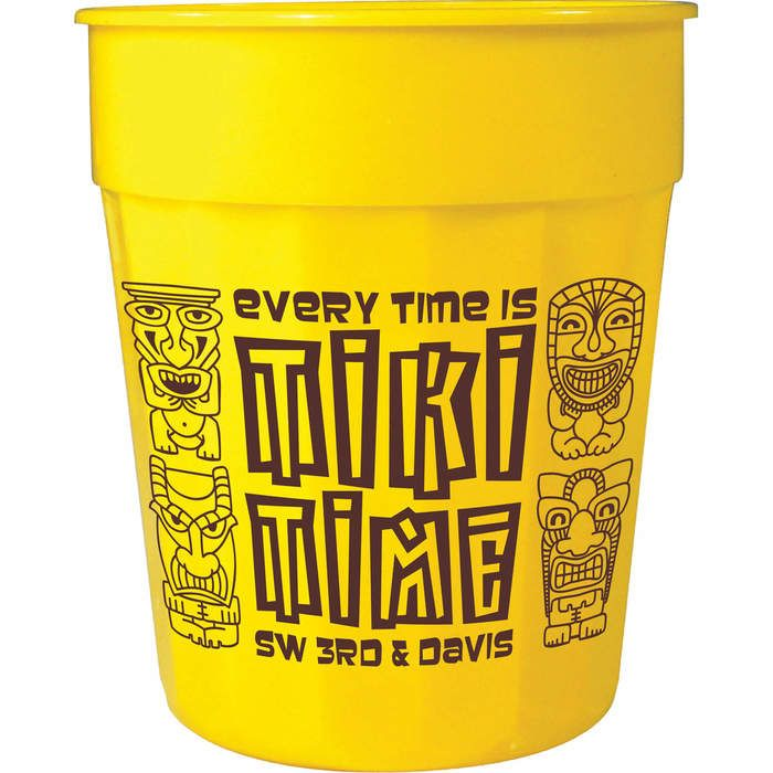 24oz Fluted Stadium Cup - Yellow