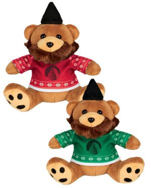 "Ugly Sweater 6"" Hipster Bear"