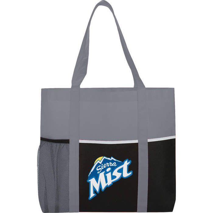 Multi-Pocket Tote Bags - Gray