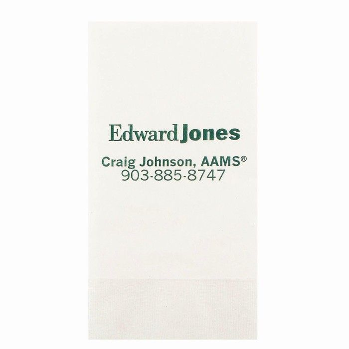 1-Ply Low Qty White Dinner Napkins