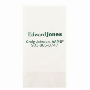 1-Ply 4X8 White Dinner Napkins - Low Qty