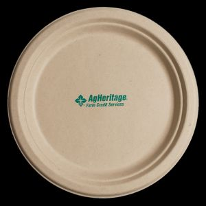 6.75 Inch Kraft Round Compostable Paper Plate