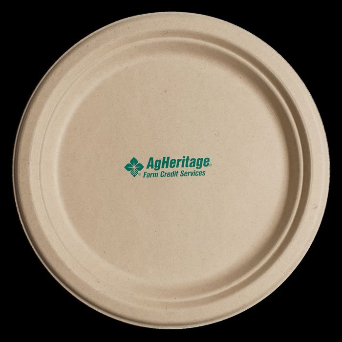 6.75 Inch Kraft Round Compostable Paper Plate  sc 1 st  Promotion Choice & Custom Paper Plates Personalized Paper Plates Imprinted With Logo ...