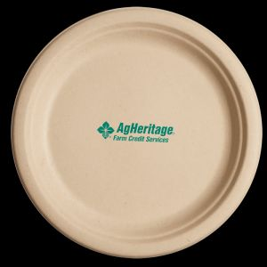 8.75 Inch Kraft Round Compostable Paper Plate